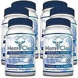 HemClear for Hemorrhoids - Vegan, 100% Natural Formula for Hemorrhoid Relief & Vascular Health - Maximum Strength 6 Bottles (Tamaño: 6 Bottles)
