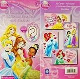 Disney Princess 32 Valentine Card, 32 Bracelets & Necklace by N/A