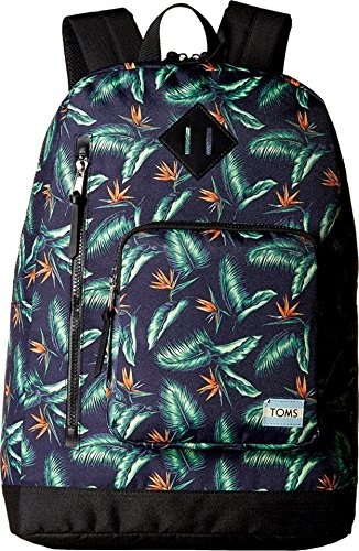 TOMS Unisex Birds of Paradise New Backpack Navy Backpack
