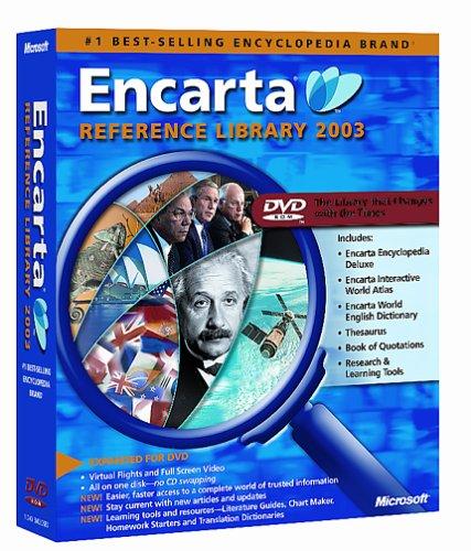 Microsoft Encarta Reference Library 2003 DVD