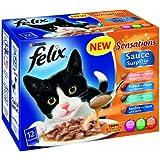 Felix Sensations Sauce Surprise Fish Selection Wet Cat Food Pouch 12 x 100 g (Pack of 4)