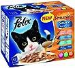 Felix Sensations Sauce Surprise Fish Selection 12 x 100 g (Pack of 4)