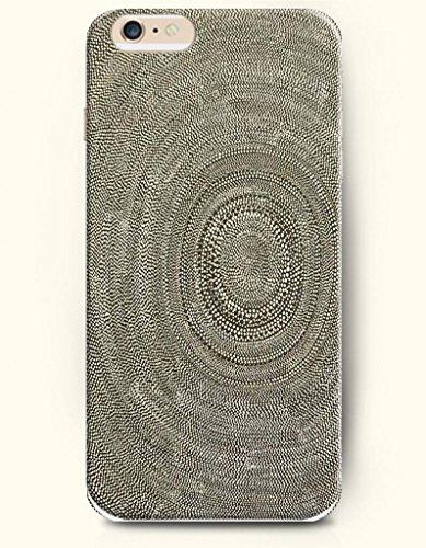 Oofit New Apple Iphone 6 Plus(5.5Inch) Hard Back Case - Mandala Circle - Brown Piled Dots Mandala Circle Pattern