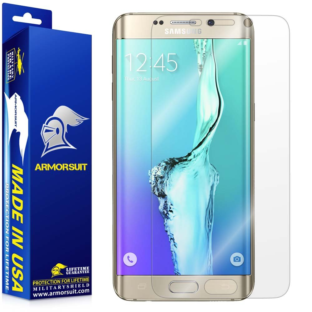 ArmorSuit MilitaryShield - Samsung Galaxy S6 Edge+ / S6 Edge Plus Screen Protector Anti-Bubble - Extreme Clarity & Touch Responsive Shield with Lifetime Replacement Warranty