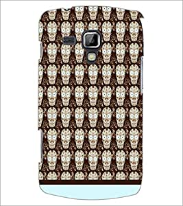 PrintDhaba Skull pattern D-1945 Back Case Cover for SAMSUNG GALAXY S DUOS 2 S7582 (Multi-Coloured)
