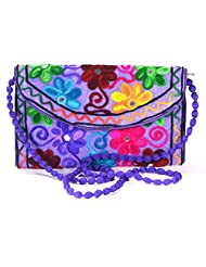 Arisha Kreation Co Women Hand Bag (Purple)