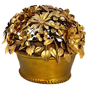 Floral Bronze Low Centerpiece