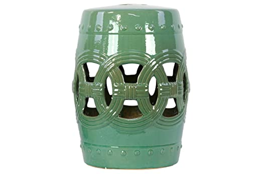 Urban Trends 23207 Decorative Ceramic Garden Stool, Lime Green