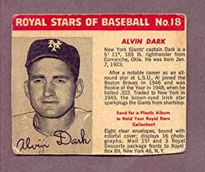 1950 Royal Dessert #018 Alvin Dark Giants GD-VG 182597 Kit Young Cards by ROYAL DESSERT