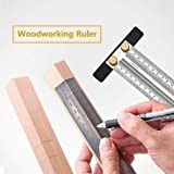 Ultra Precision Marking Ruler | Marking Rule | Precision Tiny T-Rule | Tools Rigid Coated Extreme Scratch Resistant Ultra High Contrast Machinist Engineer Ruler Scale with Markings (180mm)
