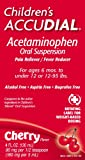 Childrens Accudial Acetaminophen Pain Reliever/Pain Reducer, Cherry, 4 Ounce (Pack of 2)