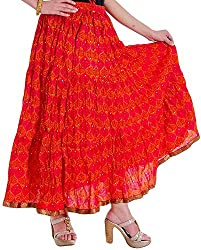 Ceil Women's Cotton Skirt (Red)