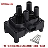 3 Pins Open Magnetic Lgnition Coil Replacement 0221503485 for Ford/Mondeo/Ecosport/Fiesta/Focus (Color: As the picture, Tamaño: One Size)