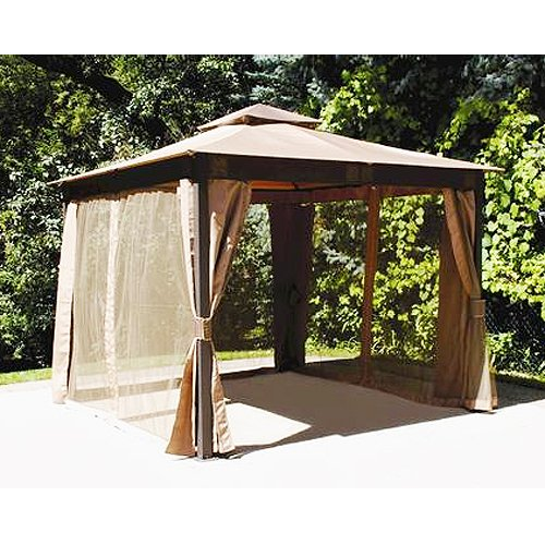 10 10 Gazebos Canopies : Square post gazebo replacement canopy riplock