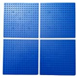 5-Inch By 5-Inch Blue Dots Baseplate Lego®-Compatible 4-Pack