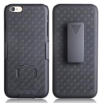 12. De-bin iPhone 6s Plus Case with Belt Clip Super Slim Hard Armor Cover Holster Case