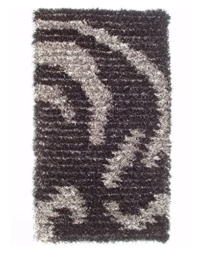 The Rug Market Siletto Rug, Black/Silver, 16 x 27
