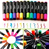 Dry Erase Markers Whiteboard Erasable Marker Pens Set - FINE Tip - Eco Bulk Pen Pack with 13 Vivid, Fresh Colors - You Get FREE Gift (Ebook)- For White Board Calendar Kids Teachers and Office Supplies