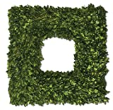 Uttermost Preserved Boxwood Square Wreath 4.5 x 22 x 22