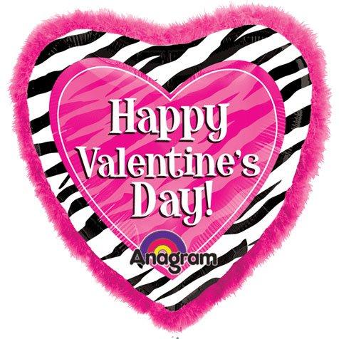 "32"" Zebra Valentine's Day Doo-dads"
