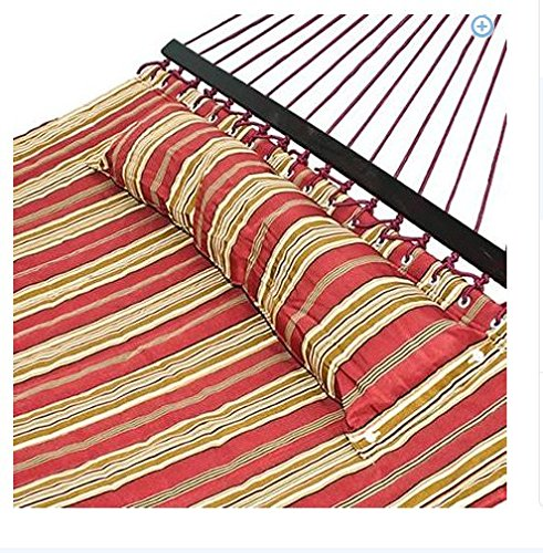 Hammock With Quilted Fabric and Double Pillow Size Spreader