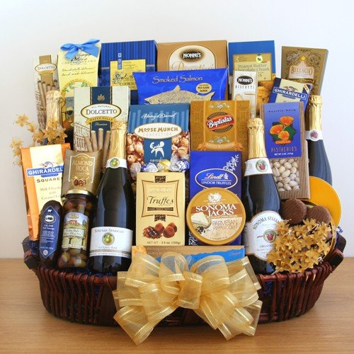 Champagne Kisses Happy New Year Gift Basket