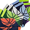 Athletic Half Cushioned Crew Socks | Basketball Wrap Design
