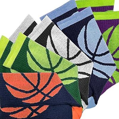 Athletic Half Cushioned Crew Socks   Basketball Wrap Design