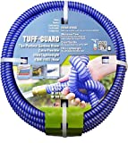 "Tuff-Guard Extra Flexible, Kink Proof Garden Hose Assembly, Blue, 5/8"" Male x Female GHT Connection, 5/8"" ID, 50 Foot Length"