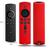 Covers for All-New Alexa Voice Remote for Fire TV Stick 4K, Fire TV Stick (2nd Gen), Fire TV (3rd Gen) Shockproof Protective Silicone Case - Red (Color: Red)