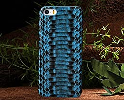 Iphone 5S Case,E-Age Luxury Genuine Snake Skin Leather Case Hard-Shell Cover for iPhone 5/5S (A3)