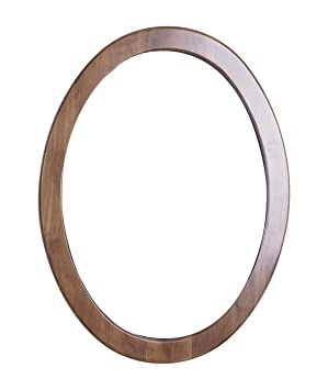 American Imaginations 21 24-Inchx 32-Inch Oval Wood Framed Mirror, Antique Cherry Finish