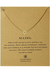 "Dogeared Mazel Jewish Star Chain Necklace, 18"""