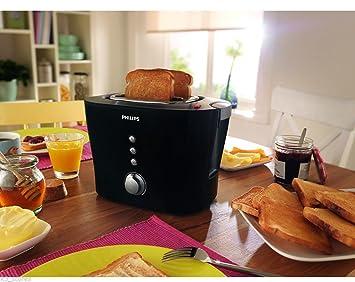 Philips HD2630/20 Viva Collection 1000-wattSandwich Pop-Up Toaster (Black/Silver)