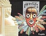 Umm al Qaïwaïn Bloc 54 (complète.Edition.) neuf avec gomme originale 1972 masques ii