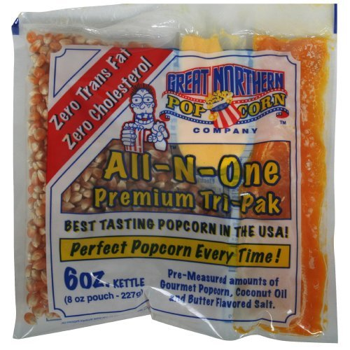 Great Northern Popcorn 1 Case (24) of 6 Ounce Premium Quality Popcorn Portion Packs Kit Cinema by Great Northern Popcorn Company (6oz Popcorn Packs compare prices)