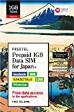 FREETEL Prepaid SIM for JAPAN (1GB Data SIM (micro))