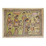 Indian Art Madhubani Painting on Paper with Organic Color