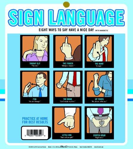 Blue Q Sign Language Magnet Set