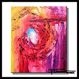 Limited Edition Modern Abstract Painting, Canvas Fine Art Giclee, Hand Embellished, Textured and Ready to Hang. 36 x 30 x 1.5 \