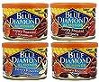 Blue Diamond Almonds - Variety Honey Flavors - Honey Cinnamon, Honey Chipotle, Honey Vanilla and Honey Roasted (Pack of 4)