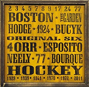 Boston Bruins Vintage Style Wooden Sign-18x18