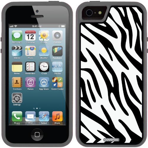 Best Price Zainy Zebra design on a Black iPhone 5s / 5 Guardian / Ruggedized Case by Coveroo