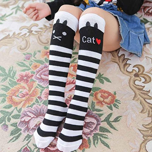 Girl Stockings,Morecome Cute One Pair Baby Children Leg Warmers Cotton Stockings (White)