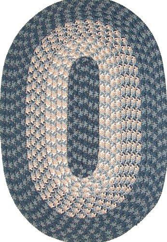 Hometown 8' ROUND Braided Rug in Blueberry
