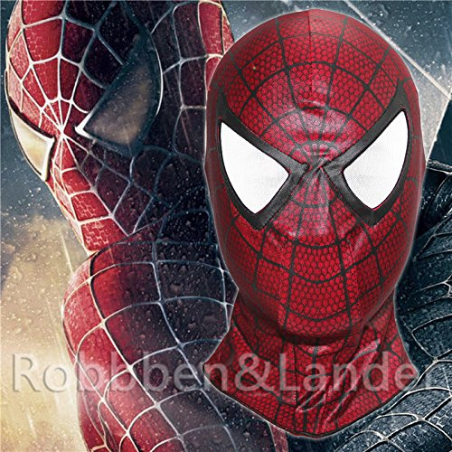 [The Amazing Spider Man Red Mask Carnage Cosplay Hood Spider-Man 3 Full Face Mask] (The Amazing Spider Man 2 2016 Costume)