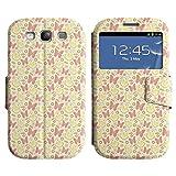 LEOCASE Schmetterlinge Und Kleider Leder Tasche Schutzhülle Etui Hülle Flip Case Cover Für Samsung Galaxy S3 I9300 No.1000131