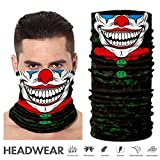 TEFITI Face Shield, Multifunctional Motorcycle Face Mask Balaclava Bandana Headband for All Outdoor Sports (AC-2017142) (Color: AC-2017142, Tamaño: One Size)