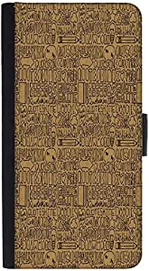 Snoogg Abstract Graphic Snap On Hard Back Leather + Pc Flip Cover Htc M9