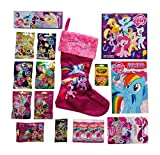 My Little Pony Friendship Is Magic Christmas Stocking Large Pink L.E.D. Lights Up + Wave 5, Wave 8, Wave 10, Wave 11, Wave 12, Wave 13, Wave 14 Blind Bags & Activity Bundle